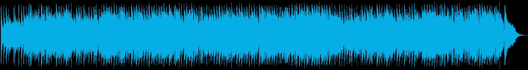 爽やかな風を感じるBGMの再生済みの波形