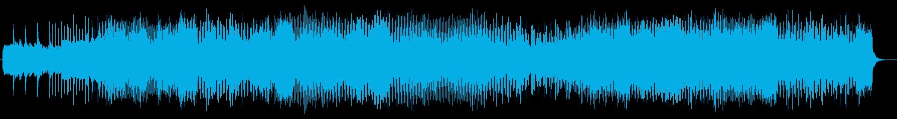 緩やかで繊細なシンセサウンドの再生済みの波形