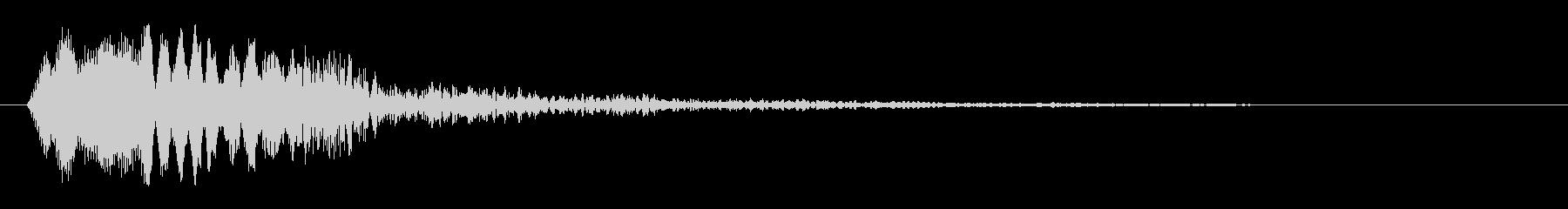クリック音(ある箇所を調べる時の効果音)の未再生の波形