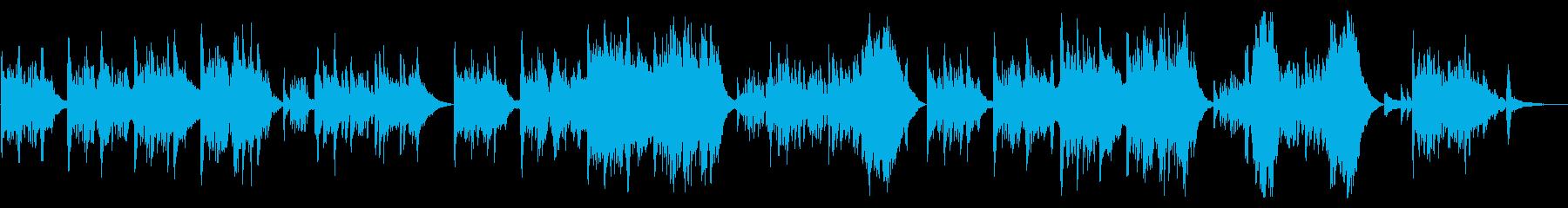 切なくしんみりとしたピアノバラードの再生済みの波形