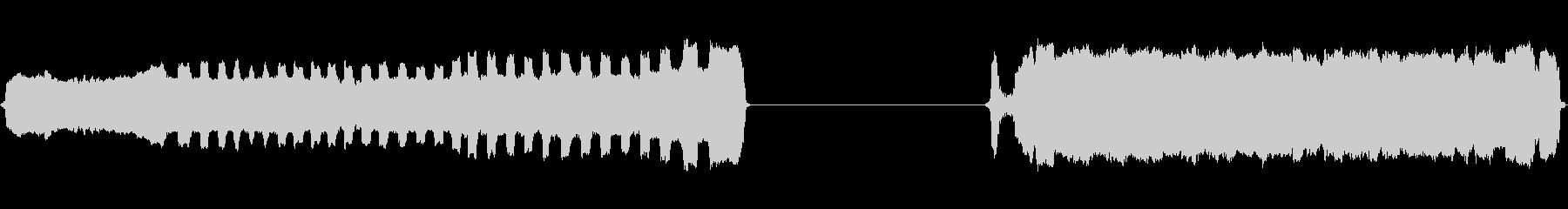 ホイッスルトレインフラッターブローロングの未再生の波形