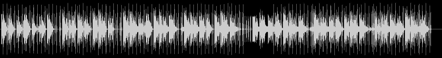 優しいミニマルテクノの未再生の波形