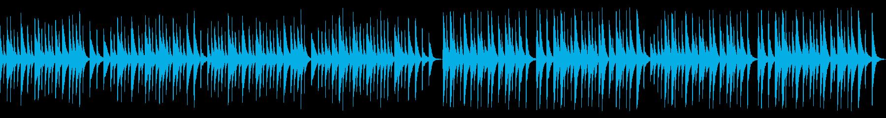 解説や料理番組に木琴レトロジャズ(ループの再生済みの波形