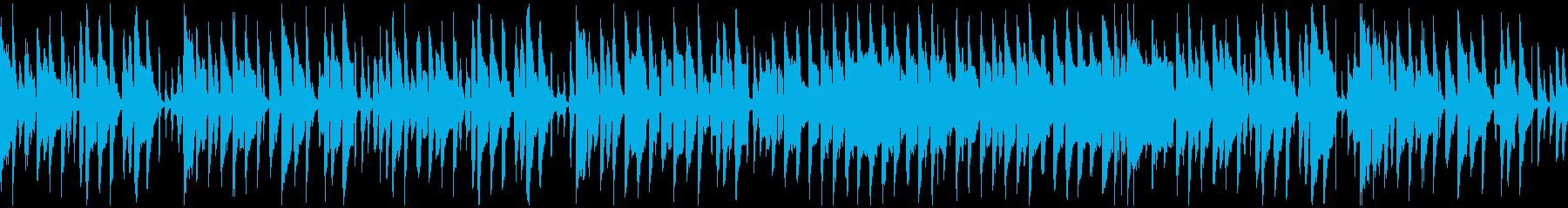 ゆるいリコーダーとピアノの劇伴※ループ版の再生済みの波形