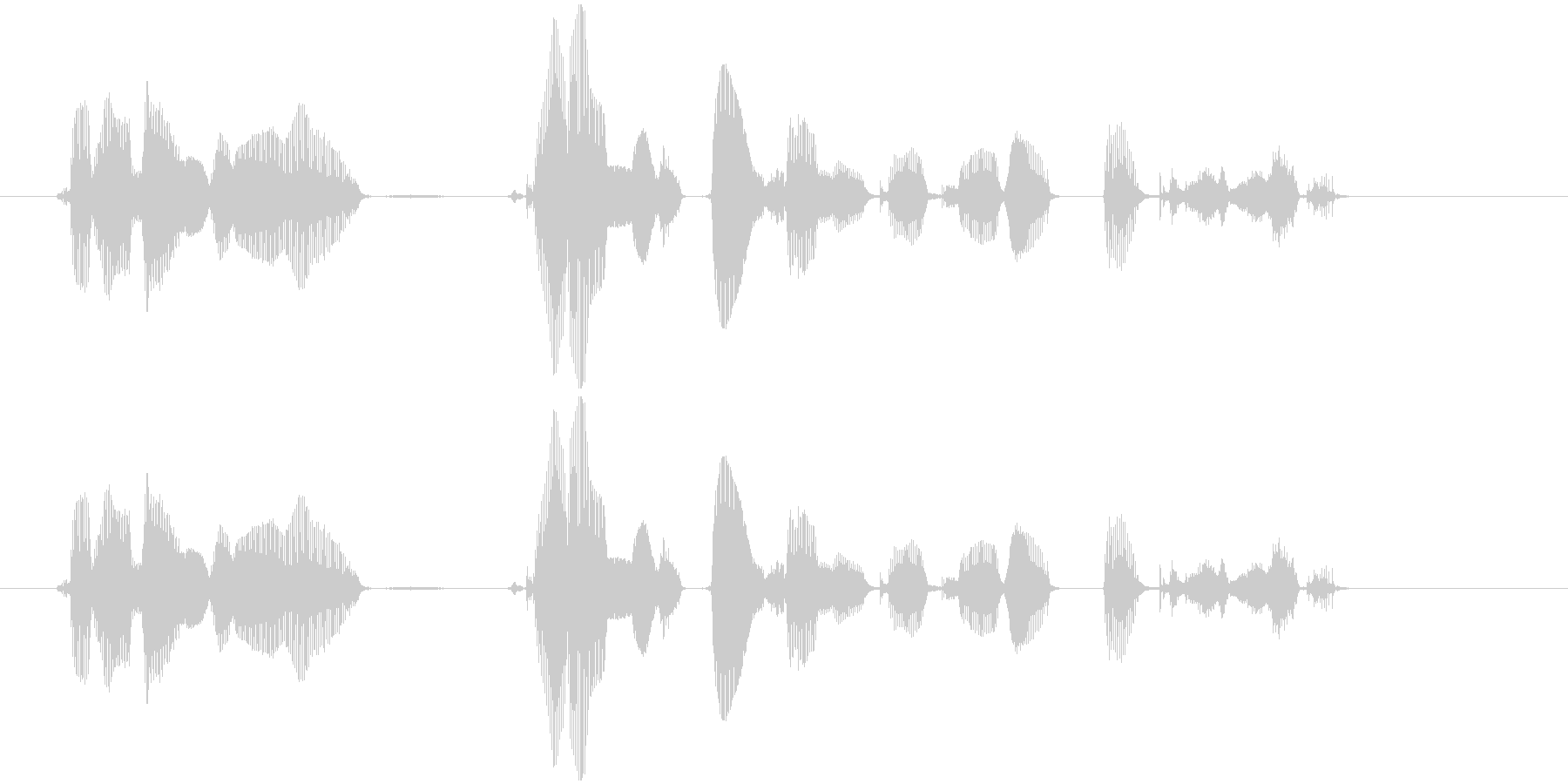 この番組は、ご覧のスポンサーの提供で、…の未再生の波形