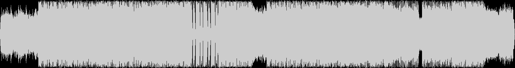 シンセ入りハード系ロック曲の未再生の波形