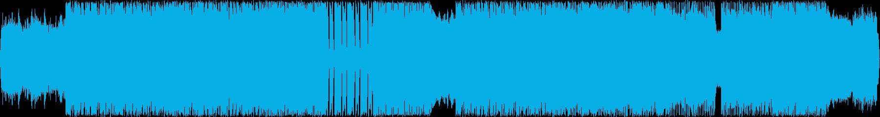 シンセ入りハード系ロック曲の再生済みの波形