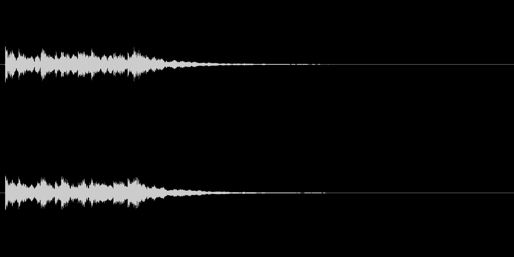 ピンポンピンポンピンポン綺麗なベル正解音の未再生の波形