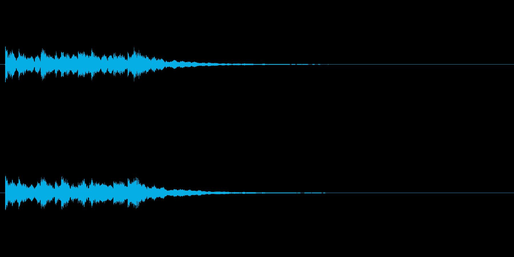 ピンポンピンポンピンポン綺麗なベル正解音の再生済みの波形