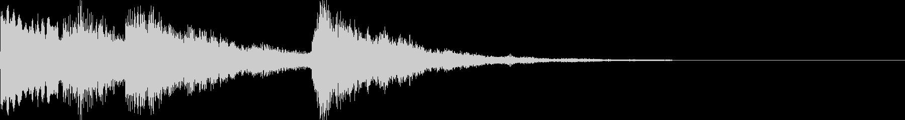 【和風シンセ音】のサウンドロゴですの未再生の波形