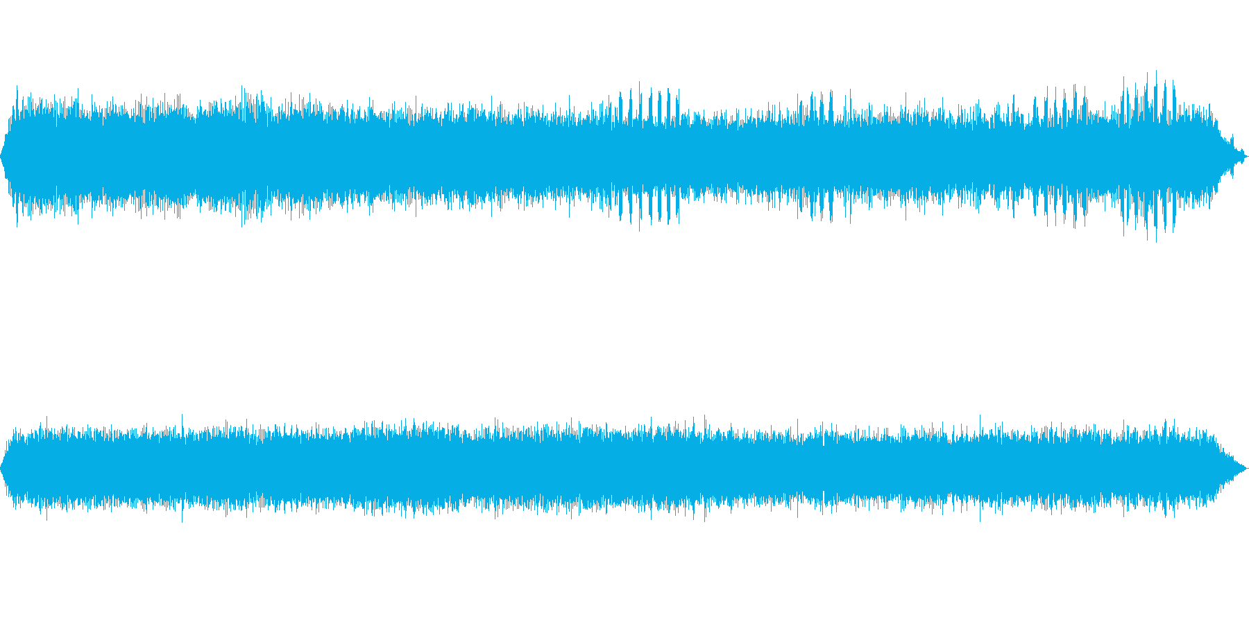 【生録音】秋の虫たちが鳴く音5の再生済みの波形