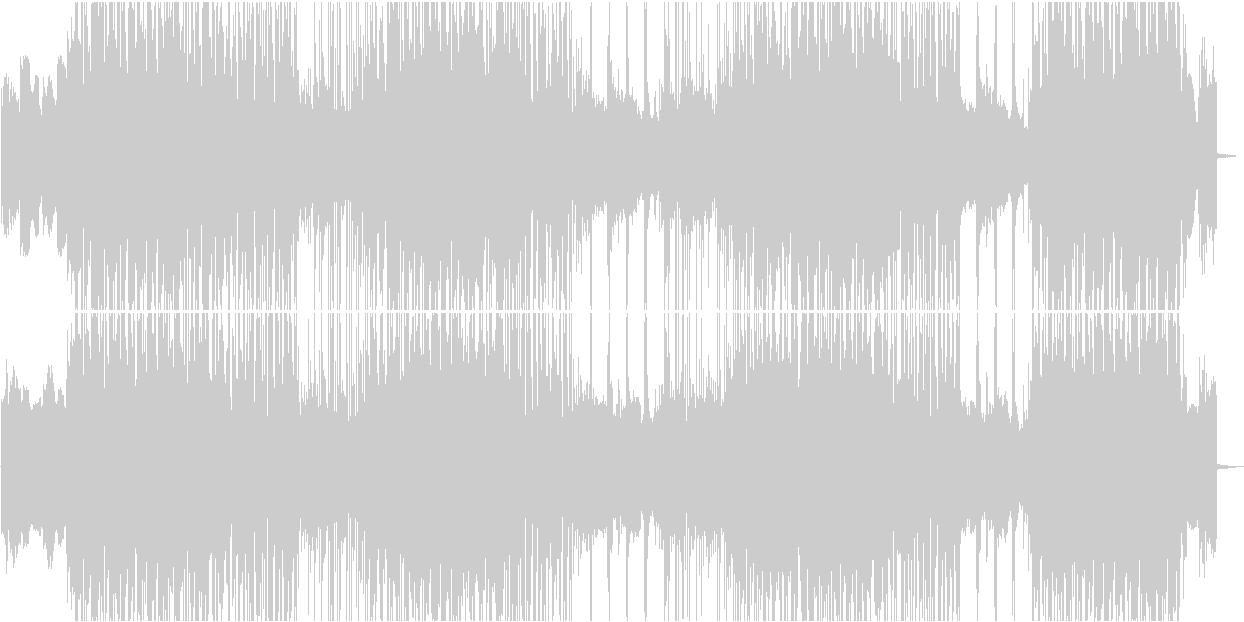 ダークでインダストリアルな雰囲気の未再生の波形