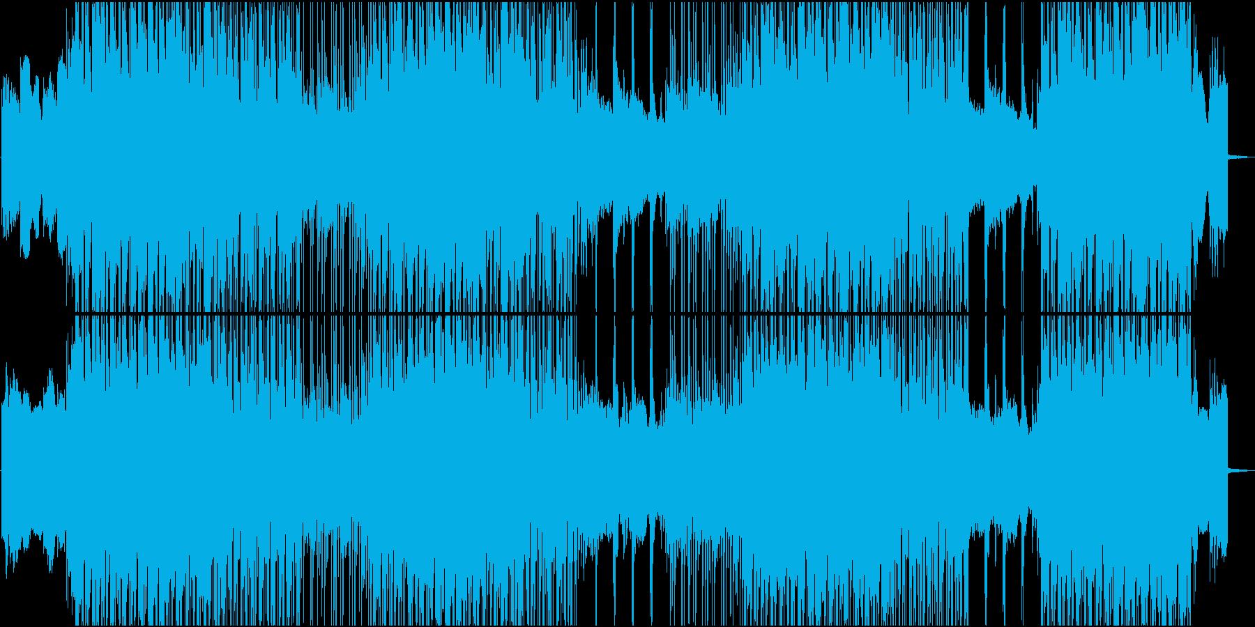 ダークでインダストリアルな雰囲気の再生済みの波形
