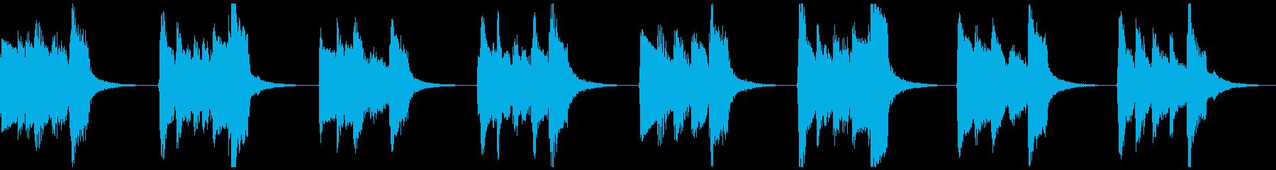 【ループ】中世風のギター:太古の森2の再生済みの波形