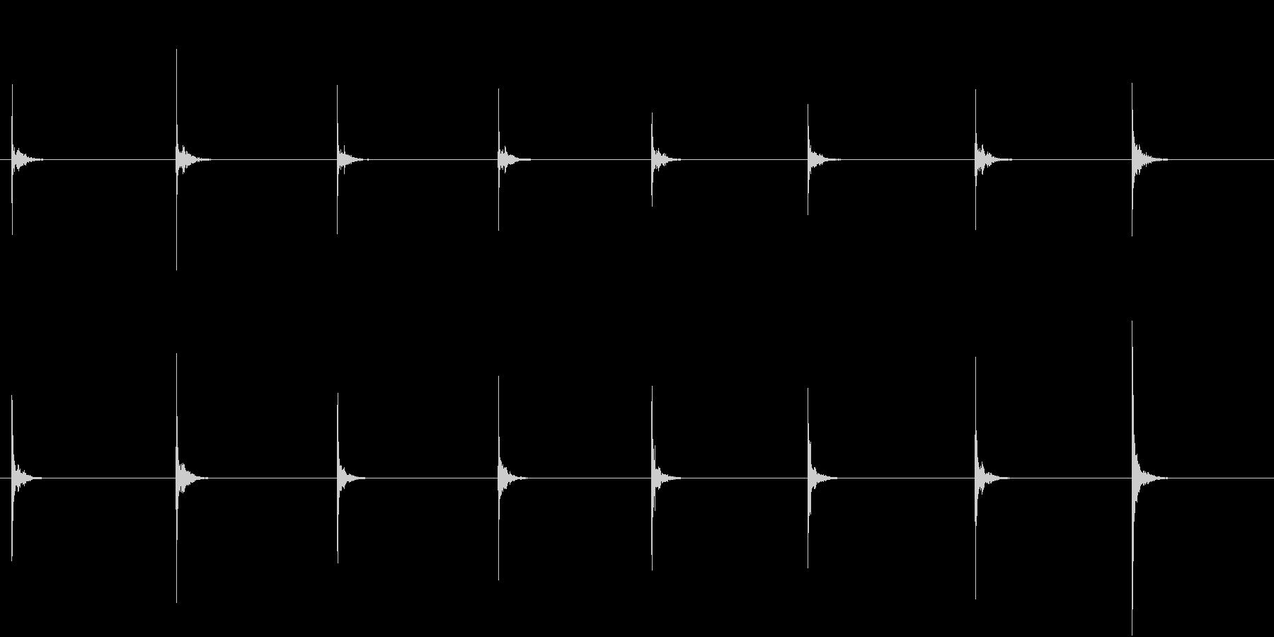 【生録音】お箸の音 4 カチカチと鳴るの未再生の波形