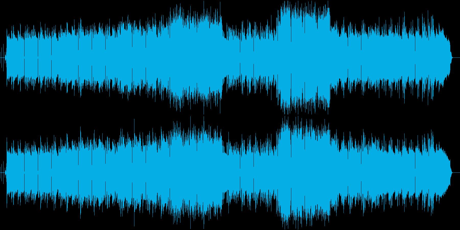 フルートとサックスが奏でる優しいバラードの再生済みの波形