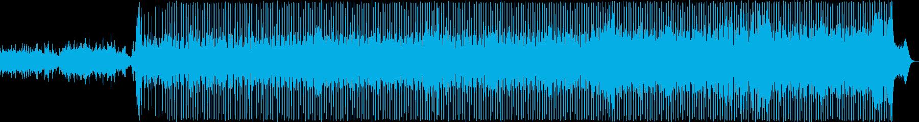 軽快な雰囲気のポップBGMの再生済みの波形
