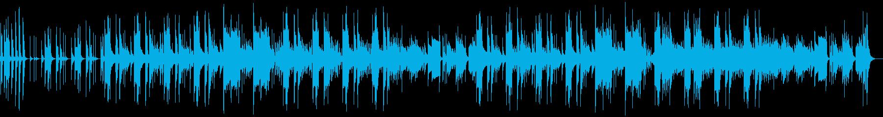 リコーダー、ほのぼの日常会話シーン劇伴の再生済みの波形