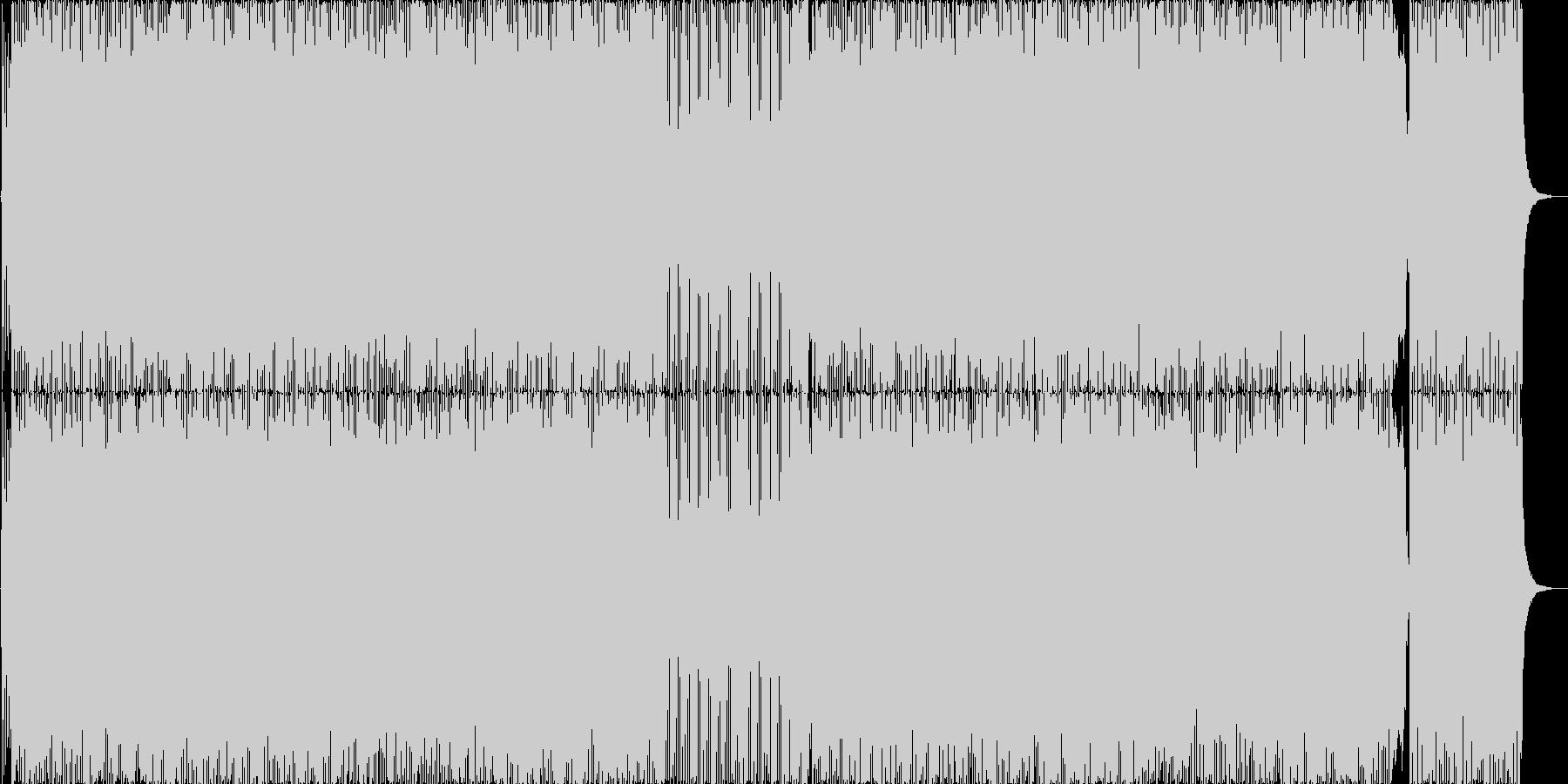 ゲームの戦闘シーン_和風メタル音楽の未再生の波形