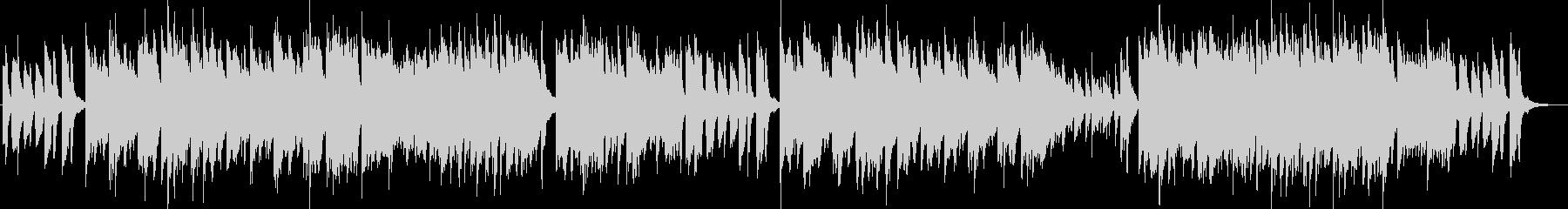 不思議で攻撃的な曲調のピアノソロの未再生の波形