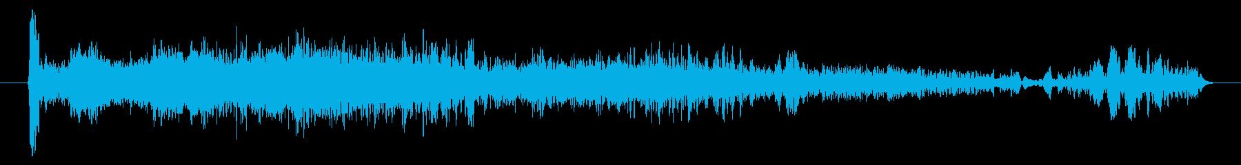 機械ローターの異常爆発の再生済みの波形