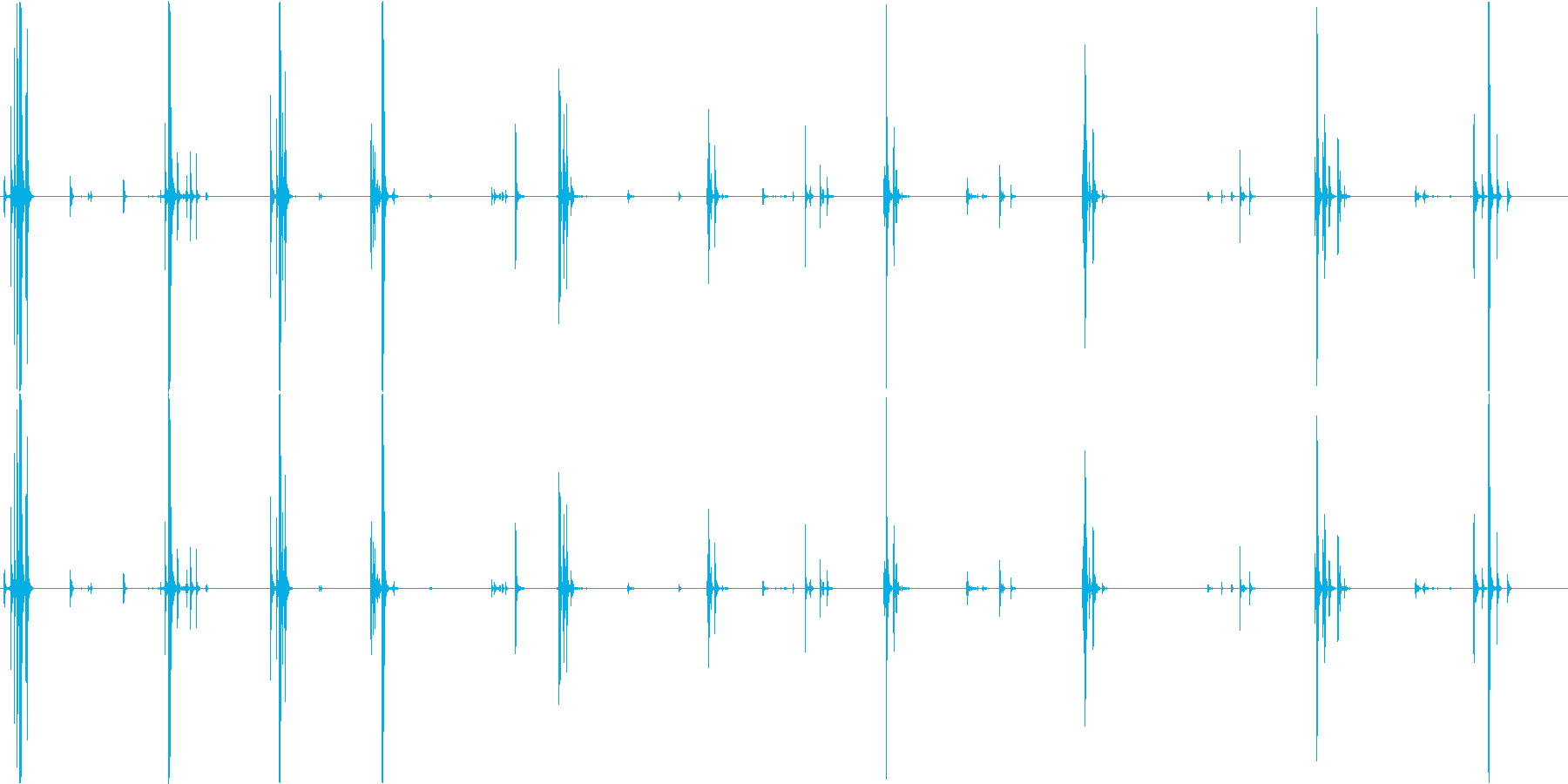 蓋カタパルト圧縮室の再生済みの波形