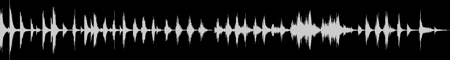 孤独、絶望のピアノバラードの未再生の波形