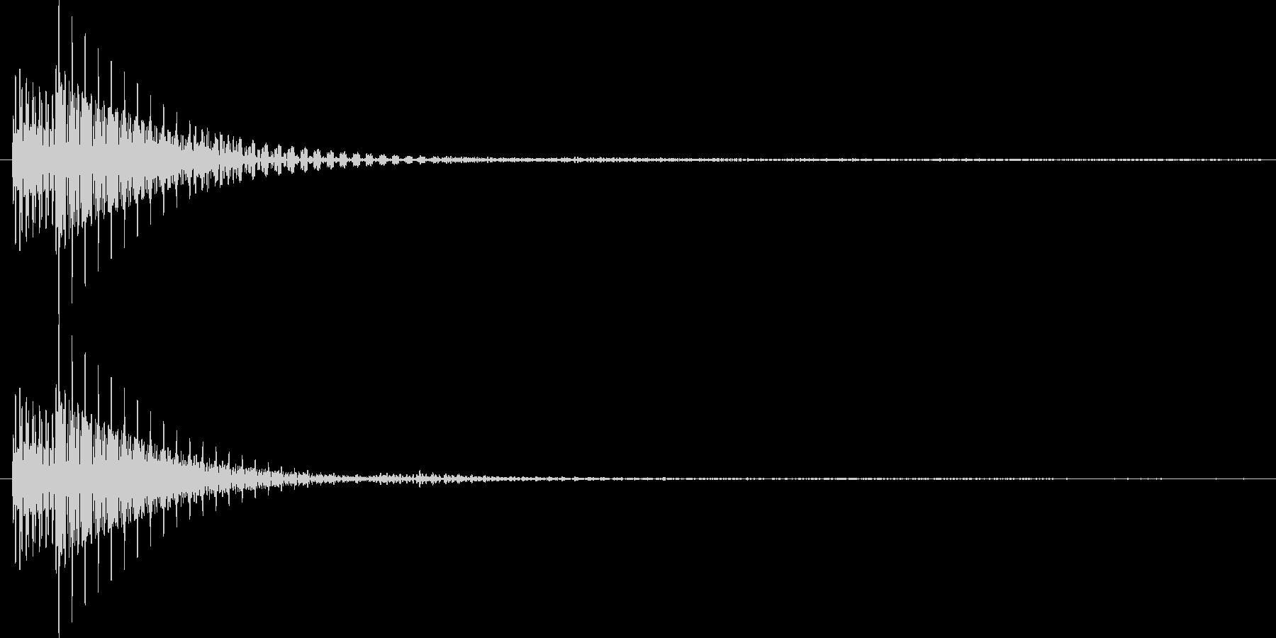 ボタンを押した時、決定する時の音の未再生の波形