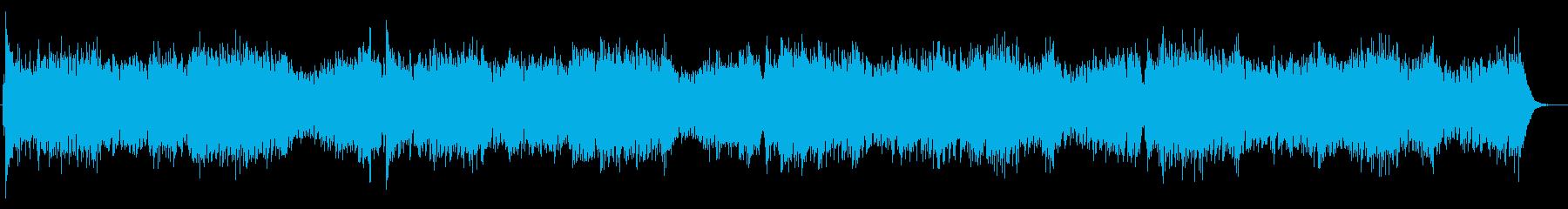 軽快で明るいピアノ曲の再生済みの波形