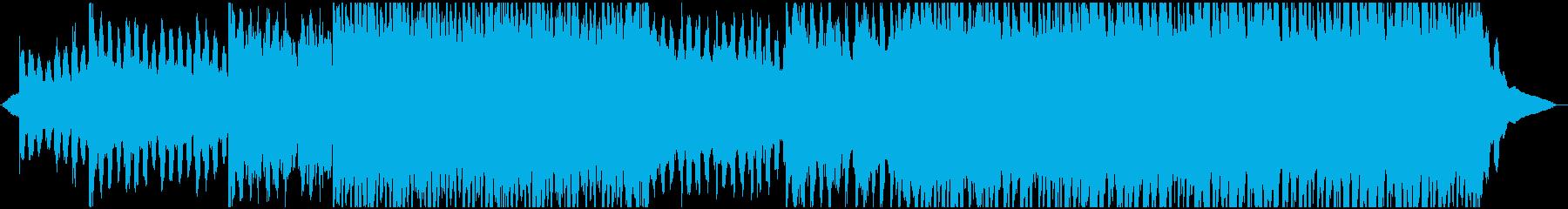 ゆったり楽し気なコーポレート系BGMの再生済みの波形