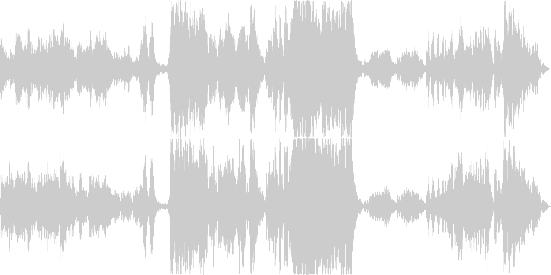ハロウィン、映画用壮大ホラーオーケストラの未再生の波形