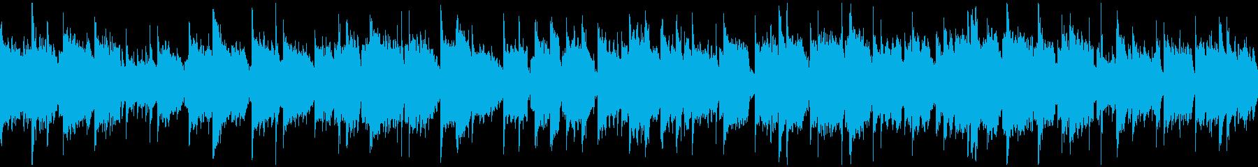 ノスタルジックな笛の癒し系の曲※ループ版の再生済みの波形