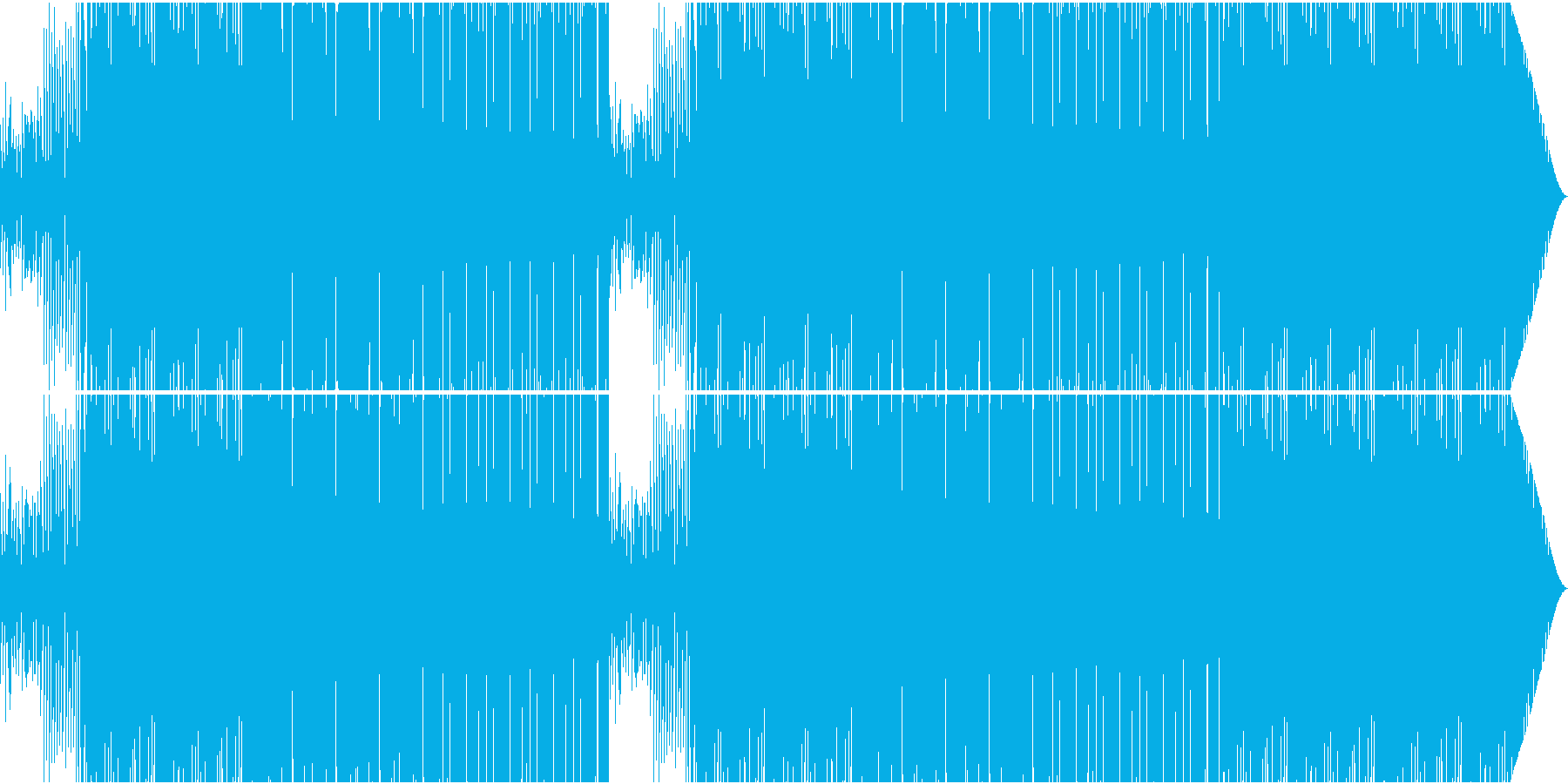 70'~80'年代のディスコ風07の再生済みの波形
