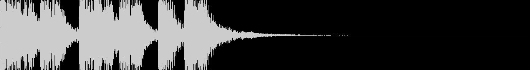 重厚感のあるファンファーレ05の未再生の波形