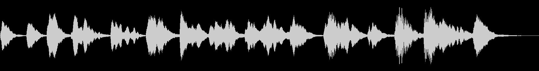 木琴による謎めいたアンビエントの未再生の波形
