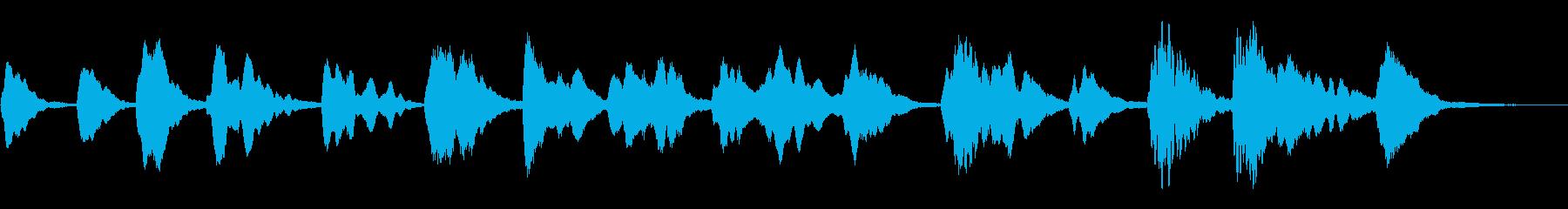 木琴による謎めいたアンビエントの再生済みの波形