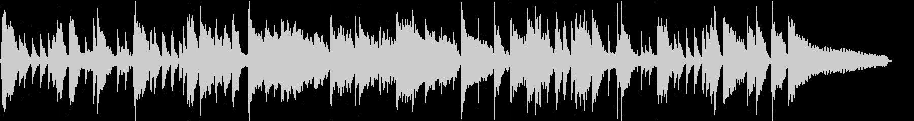 30秒】明るくポップ、ノリの良いピアノの未再生の波形