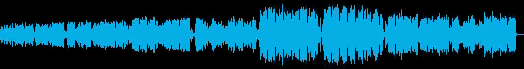ゆっくりした弦楽四重奏の再生済みの波形