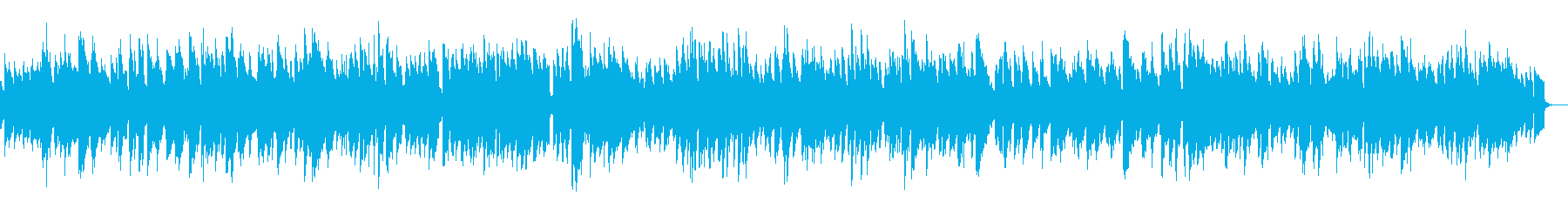 ミドルテンポの明るいジャズの再生済みの波形