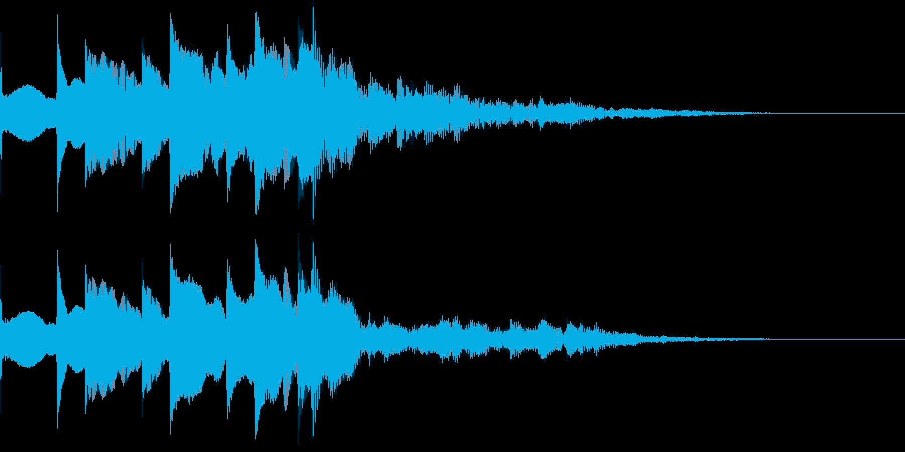 アップ 魔法 クリア ファンファーレ の再生済みの波形