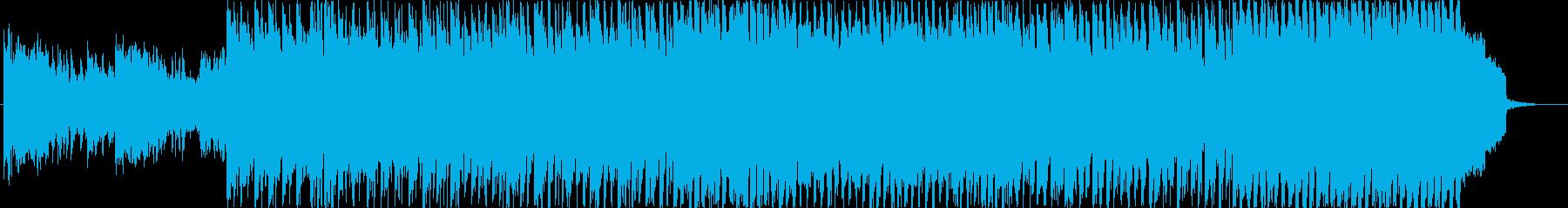 和風ゲーム戦闘シーンの音楽の再生済みの波形