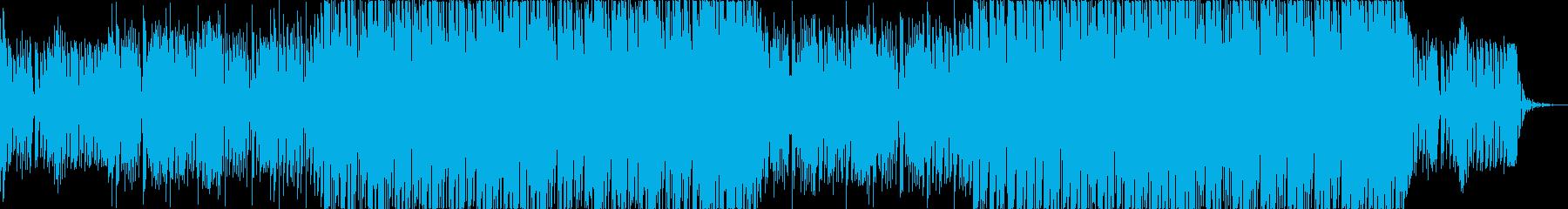 明るいコード感のデジタルポップの再生済みの波形