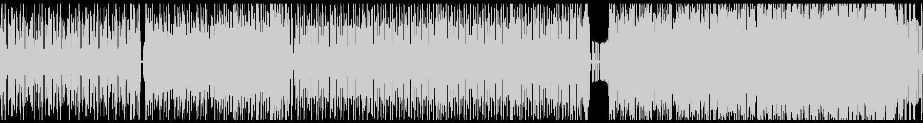 ハイテンポなサイケデリックトランス風の曲の未再生の波形