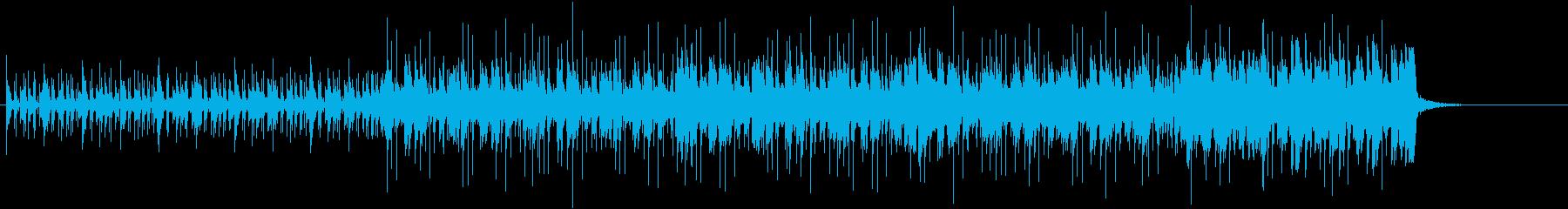 おしゃれで都会的なヒップホップ曲の再生済みの波形