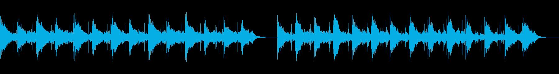 サスペンスやホラー等の恐怖・不安を煽る曲の再生済みの波形
