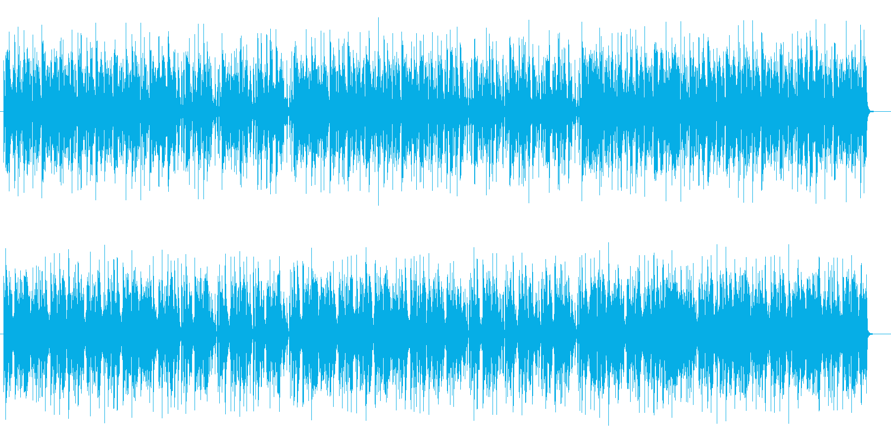 落ち着いたムードあるミュージックの再生済みの波形