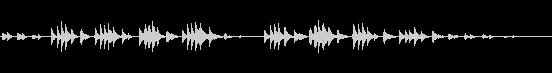バルトーク「子供のために」26番の未再生の波形