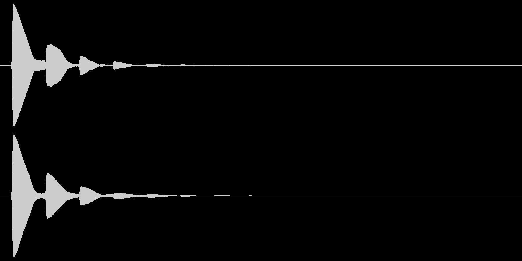 ピッ(カーソル、余韻有り) 02の未再生の波形