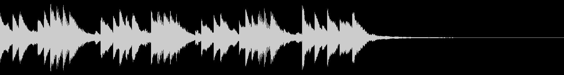キラキラしたジングル/ベル、オルゴールの未再生の波形
