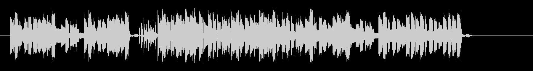 シンセのリズムが現代的なポップスの未再生の波形